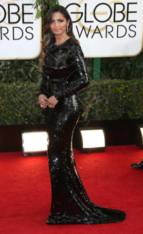 Camila Alves - Los Angeles - 12-01-2014 - Golden Globe 2014: gli arrivi sul red carpet