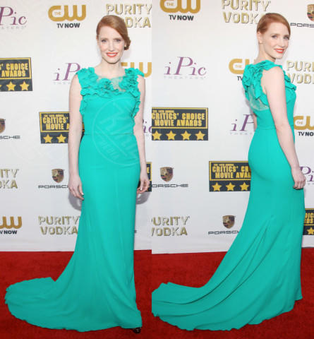 Jessica Chastain - Los Angeles - 17-01-2014 - Vade retro abito! Le scelte ai Critic's Choice Awards