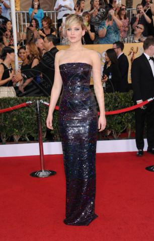 Jennifer Lawrence - Los Angeles - 18-01-2014 - Grazie a Dior, Jennifer Lawrence è una regina sul red carpet!