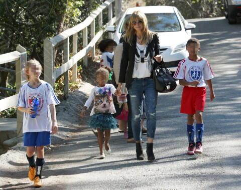 Line Klum, Lou Samuel, Henry Samuel, Heidi Klum - Los Angeles - 18-01-2014 - Mamme in carriera: i figli sono la chiave del successo