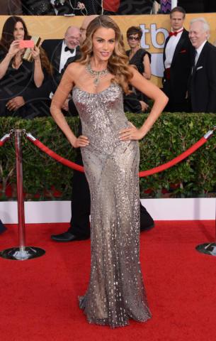 Sofia Vergara - Los Angeles - 18-01-2014 - Vade retro abito! Le scelte delle star ai SAG Awards 2014