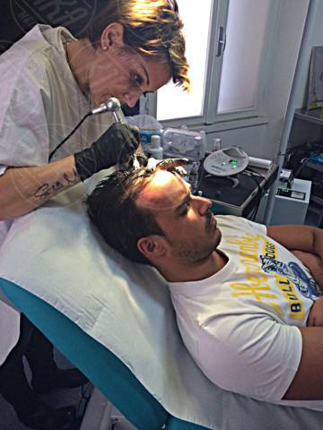 Claudia Boldi, Luca Marin - 21-01-2014 - Tricopigmentazione: il trucco dei vip giovanissimi