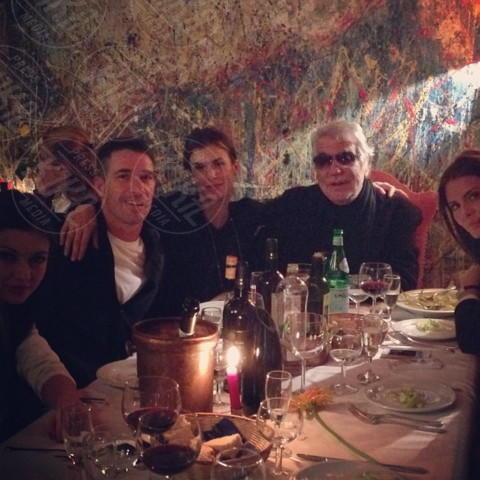 Brian Perri, Elisabetta Canalis, Roberto Cavalli - Los Angeles - 22-01-2014 - Dillo con un tweet: la Canalis svela i segreti sul sesso