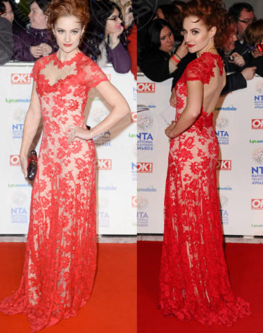 Paula Lane - Londra - 23-01-2014 - Vade retro Abito! Jennifer Metcalfe osé al National TV Awards