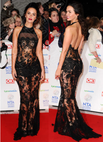 Jennifer Metcalfe - Londra - 23-01-2014 - Vade retro Abito! Jennifer Metcalfe osé al National TV Awards
