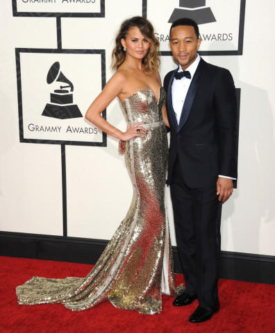 Christine Teigen, John Legend - Los Angeles - 26-01-2014 - Grammy Awards 2014: un red carpet all'insegna dell'amore