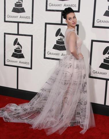 Katy Perry - Los Angeles - 26-01-2014 - Chiara Ferragni e Marica spose, chi lo indossa meglio?