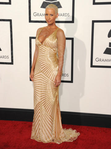 Amber Rose - Los Angeles - 26-01-2014 - Vade retro abito! Le scelte ai Grammy Awards 2014