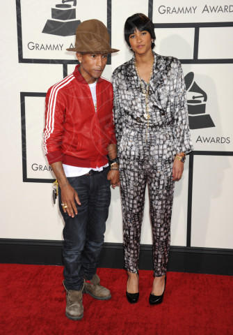 Helen Lasichanh, Pharrell Williams - Los Angeles - 26-01-2014 - Grammy Awards 2014: un red carpet all'insegna dell'amore