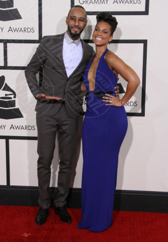 Swizz Beatz, Alicia Keys - Los Angeles - 26-01-2014 - Grammy Awards 2014: un red carpet all'insegna dell'amore