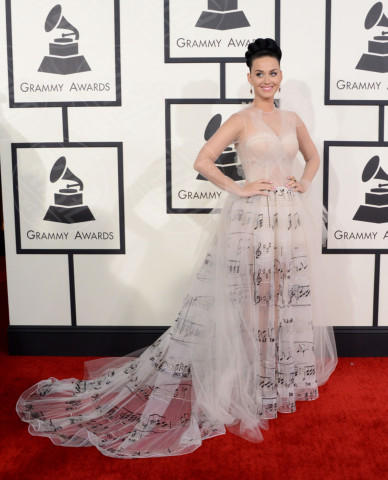 Katy Perry - Los Angeles - 26-01-2014 - Vade retro abito! Le scelte ai Grammy Awards 2014