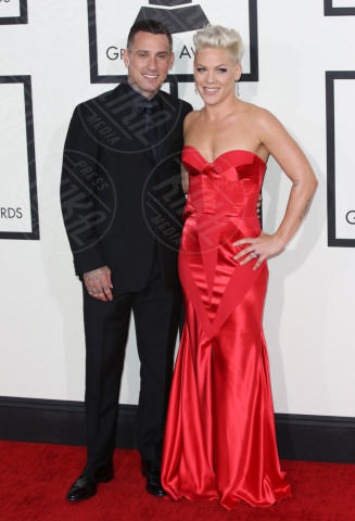 Carey Hart, Pink - Los Angeles - 26-01-2014 - Grammy Awards 2014: un red carpet all'insegna dell'amore