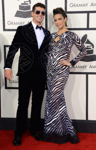 Robin Thicke, Paula Patton - 26-01-2014 - Grammy Awards 2014: un red carpet all'insegna dell'amore