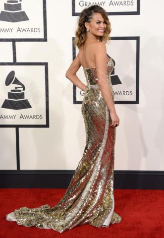 Christine Teigen - 26-01-2014 - Vade retro abito! Le scelte ai Grammy Awards 2014