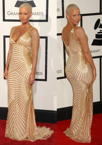 Amber Rose - Los Angeles - 27-01-2014 - Vade retro abito! Le scelte ai Grammy Awards 2014