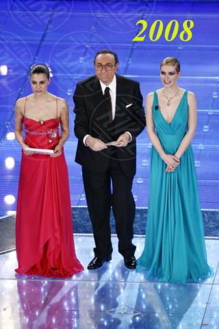 Andrea Osvart, Bianca Guaccero, Pippo Baudo - Sanremo - 29-02-2008 - Le vallette degli ultimi anni al Festival di Sanremo