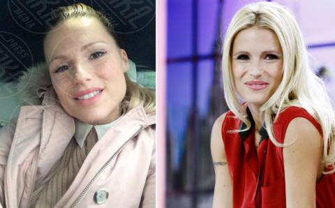 Michelle Hunziker - Milano - 21-09-2012 - Quando il trucco non c'è… si vede eccome!