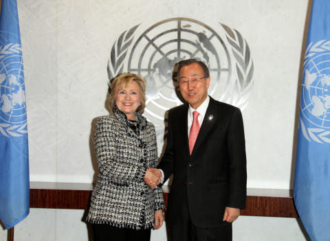 Ban Ki Moon, Hillary Clinton - New York - 04-02-2014 - Hillary Clinton: