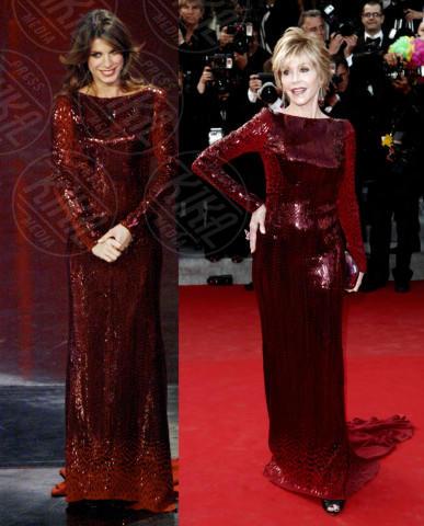 Elisabetta Canalis, Jane Fonda - 05-02-2014 - Elisabetta Canalis in Jane Fonda: chi lo indossa meglio?