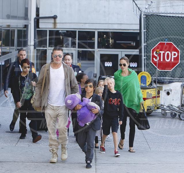 Shiloh Jolie Pitt, Knox Leon Jolie Pitt, Pax Thien Jolie Pitt, Angelina Jolie, Brad Pitt - Los Angeles - 05-02-2014 - Addio Brangelina: Jolie ha chiesto il divorzio da Brad Pitt
