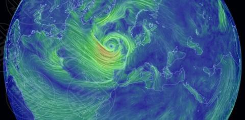 Charlie - Londra - 08-02-2014 - La super tempesta Charlie vista dall'alto