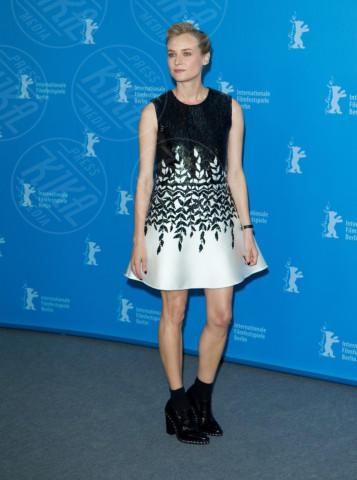 Diane Kruger - Berlino - 10-02-2014 - Il ritorno del calzino: chic or choc?