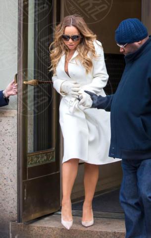 Mariah Carey - New York - 12-02-2014 - En pendant con l'inverno con un cappotto bianco