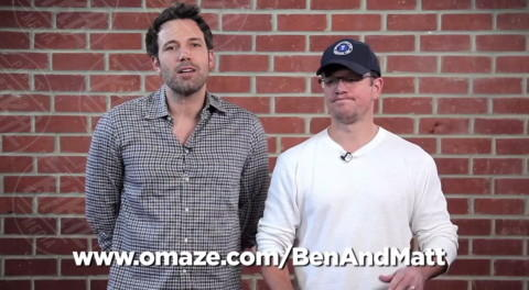 Matt Damon, Ben Affleck - Los Angeles - 13-02-2014 - Affleck-Damon: un video esilarante per una giusta causa