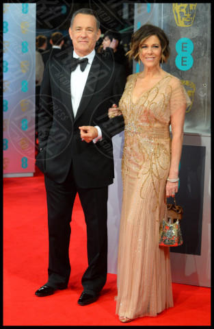 Tom Hanks, Rita Wilson - Londra - 16-02-2014 - Bafta 2014: i Brangelina in doppio smoking