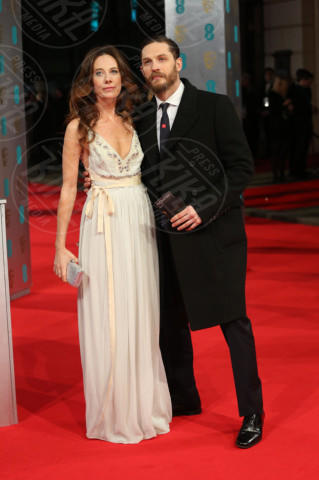 Kelly Marcel, Tom Hardy - Londra - 16-02-2014 - Bafta 2014: i Brangelina in doppio smoking
