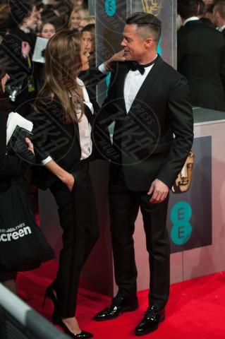 Angelina Jolie, Brad Pitt - Londra - 16-02-2014 - Bafta 2014: i Brangelina in doppio smoking