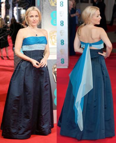 Gillian Anderson - Londra - 17-02-2014 - Vade retro abito! Le scelte delle star ai BAFTA 2014