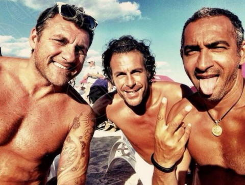 Fabio Galante, Christian Vieri - Los Angeles - 17-02-2014 - Dillo con un tweet: Vieri-Galante: gli ex belli del calcio
