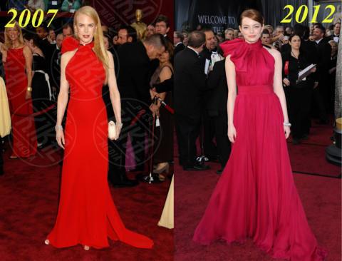 Emma Stone, Nicole Kidman - Hollywood - 19-02-2014 - Nicole Kidman ed Emma Stone: chi lo indossa meglio?