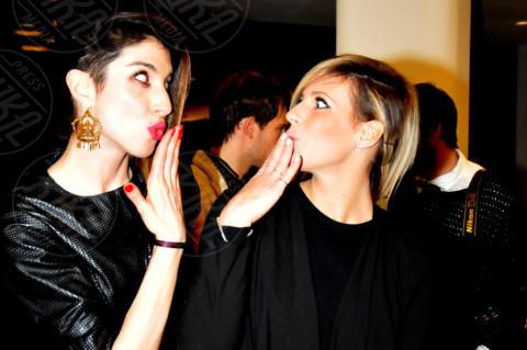 Giulia Calcaterra, Margherita Zanatta - 20-02-2014 - Milano Fashion Week: Nina Moric in versione Morticia Addams