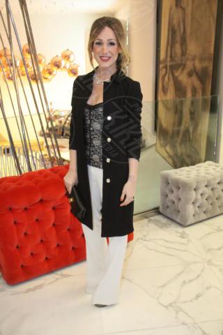 Silvia Slitti - Milano - 19-02-2014 - Milano Fashion Week: Nina Moric in versione Morticia Addams