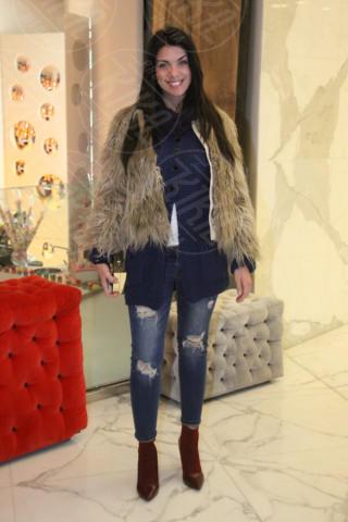 Chiara Giorgianni - Milano - 19-02-2014 - Milano Fashion Week: Nina Moric in versione Morticia Addams