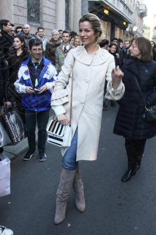 Roberta Ruiu - Milano - 23-02-2014 - En pendant con l'inverno con un cappotto bianco