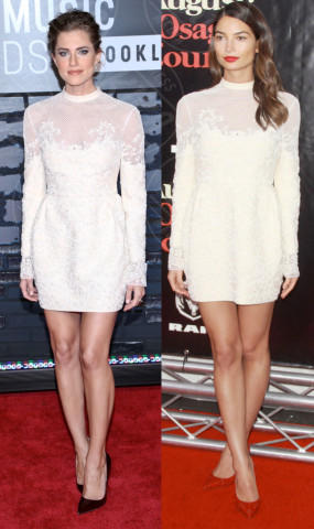 Allison Williams, Lily Aldridge - 04-03-2014 - Allison Williams e Lily Aldridge: chi lo indossa meglio?