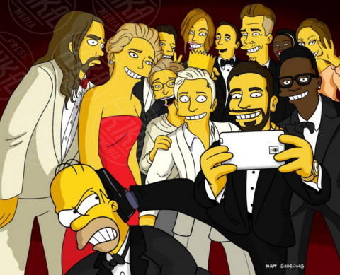 Lupita Nyong'o, Maryl Streep, Homer Simpson, Kevin, Bradley Cooper, Jared Leto - Hollywood - 02-03-2014 - Homer Simpson risponderà alle domande dei fan