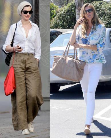 Anne Hathaway, Gisele Bundchen - 06-03-2014 - Bianca, colorata o fantasia: qual è la tua camicia?