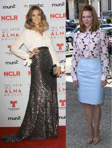 Lea Seydoux, Jessica Alba - 06-03-2014 - Bianca, colorata o fantasia: qual è la tua camicia?