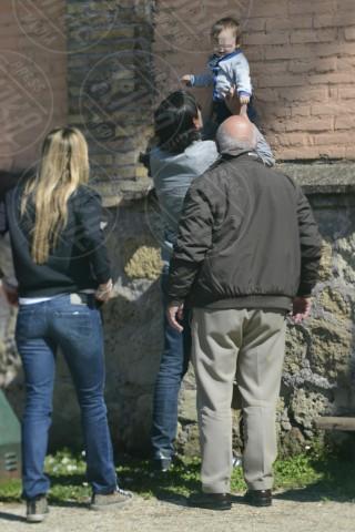 Lorenzo Inzaghi, Gaia Lucariello, Simone Inzaghi - Roma - 12-03-2014 - Simone Inzaghi: prima camminare, poi calciare!
