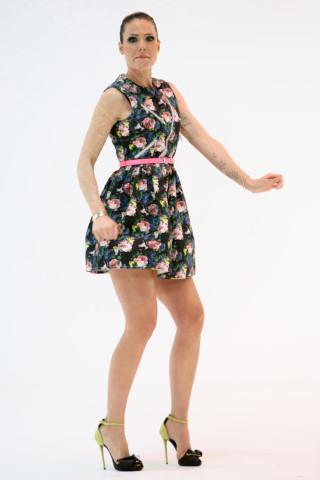 Ilary Blasi - Milano - 05-03-2014 - Il minidress floreale per sentirsi una jeune fille en fleur