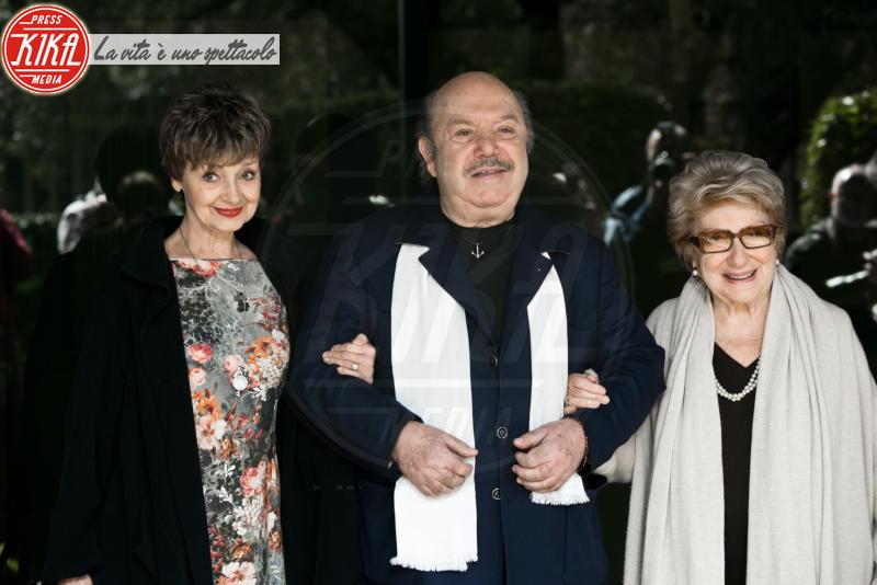 Valeria Valeri, Milena Vukotic, Lino Banfi - Roma - 13-03-2014 - Lutto nel mondo del teatro: è morta Valeria Valeri