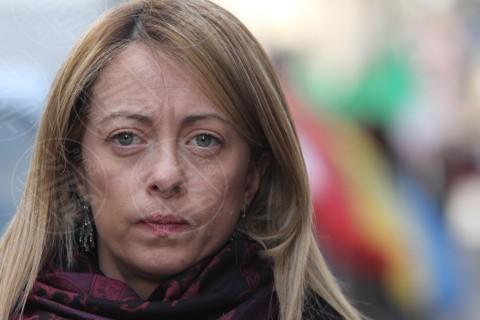 Giorgia Meloni - Corteo - Firenze - 15-03-2014 - Giorgia Meloni è diventata mamma. Benvenuta Ginevra