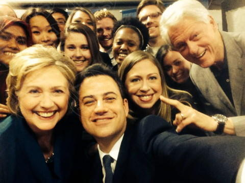 Hillary Clinton, Chelsea Clinton, Bill Clinton, Jimmy Kimmel - 24-03-2014 - Star come noi: l'impegno politico delle star