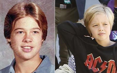 Knox Leon Jolie Pitt, Brad Pitt - Los Angeles - 05-02-2014 - Tale genitore tale figlio: Jack Black e il suo mini-me
