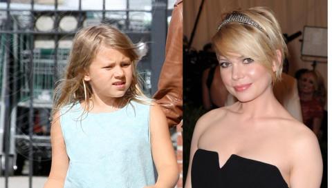 Matilda Ledger, Michelle Williams - 11-09-2013 - Sei uguale ai tuoi genitori! I vip ricorrono alla clonazione?