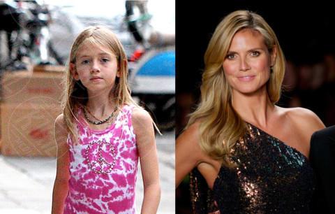 Leni Samuel, Heidi Klum - 11-09-2013 - Sei uguale ai tuoi genitori! I vip ricorrono alla clonazione?